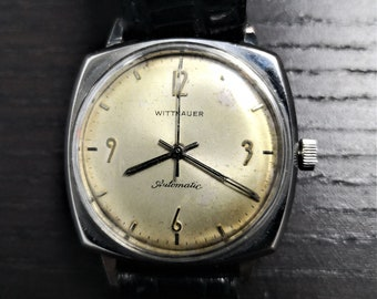 56b3f869e2ce Vintage rare find 1960 s Wittnauer 17 Jewel Automatic Wrist Watch