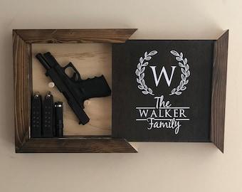 Hidden Gun Storage, Family Name (#1 Bestseller)
