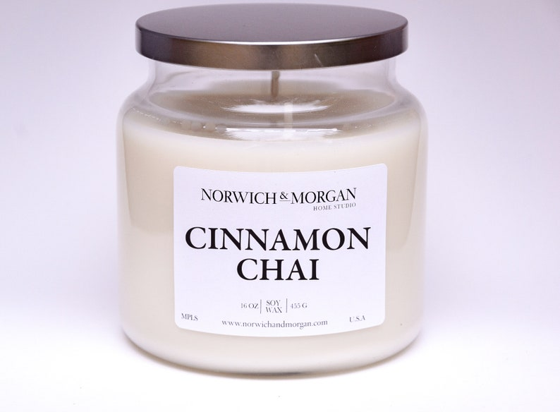 Cinnamon Chai 16oz Apothecary Soy Wax Candle