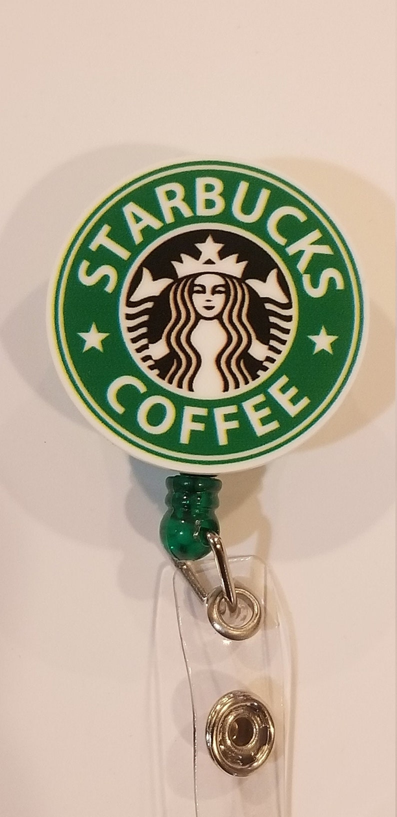 Starbucks Retractable Badge Reel ID Name Card Badge Holder Nurses Doctors