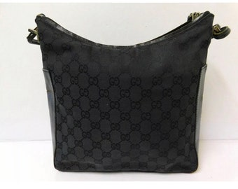 0e69d34b884 Authentic Gucci Handbag   classic black gucci print shoulder bag   purse    layaway options
