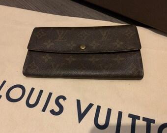 2b37e6102cc0 Sale Ends Friday Morning - Authentic Louis Vuitton Wallet Monogram  Portefeuille Sarah long wallet   designer LV Long Wallet