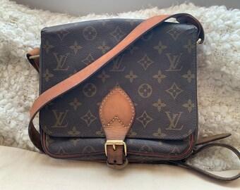 fc9ee65d1032 Only 3 days left on sale - Authentic Louis Vuitton Crossbody Cartouchiere  MM Handbag   LV monogram shoulder bag