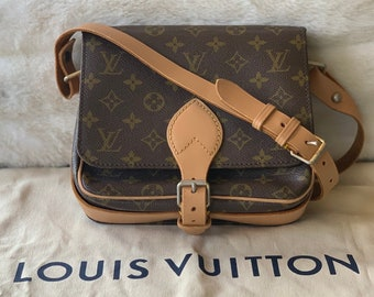 8fb225af0 Authentic Louis Vuitton Cartouchiere Crossbody Monogram Handbag /  refurbished painted dyed