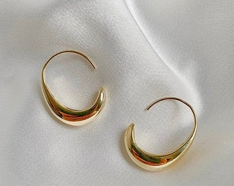geometric earrings unique earrings trendy earrings small gold hoops aesthetic earrings Dainty rectangle earrings cool earrings