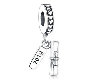c3cee8413fa 2019 Graduation Charms Dangle Pendant Charm Beads DIY Jewelry Berloque,  100% Authentic 925 Sterling Silver Fit Pandora Charms Bracelet