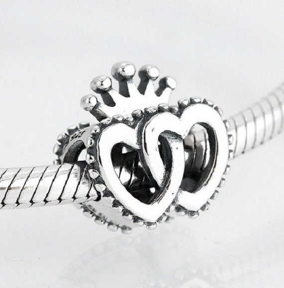 Teddy with gold Heart New Auth 925 Sterling Silver Charm fits Fashion Bracelets