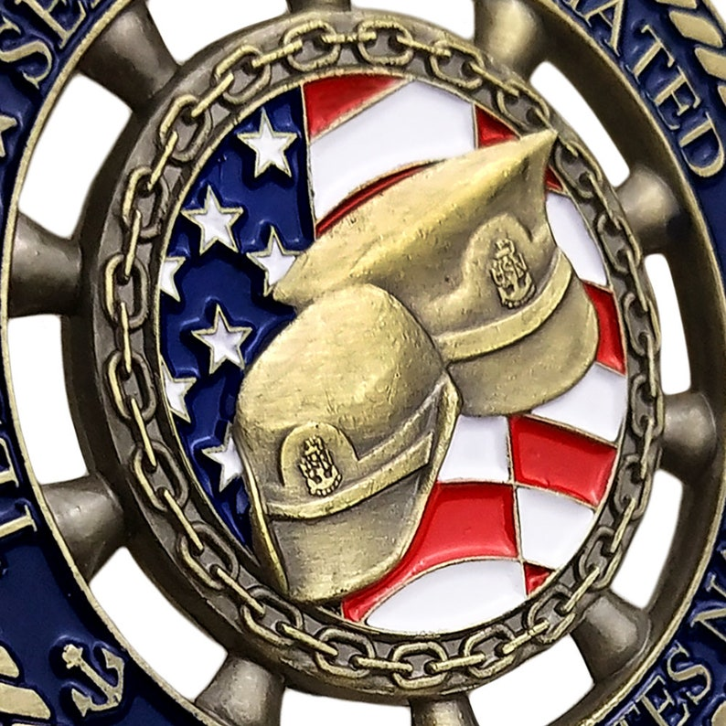 US Navy Chief Petty Officers Challenge Coin Rudder Shape Coins Gift