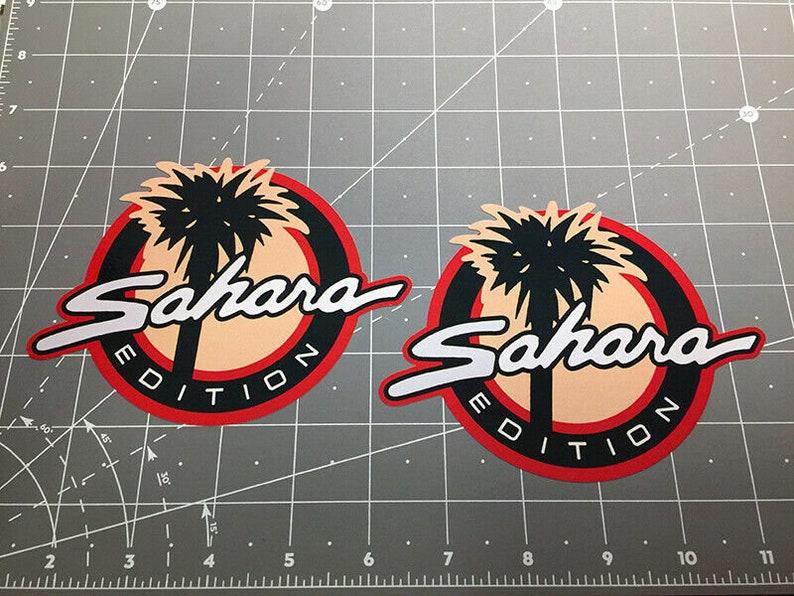 Jeep SAHARA Edition decals stickers Wrangler CJ YJ TJ JK Rubicon Unlimited fits