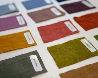 Linen Clothing Sample Pack/Fabric Swatches/Color Samples/Solid Fabric Samples – Organic Clothing