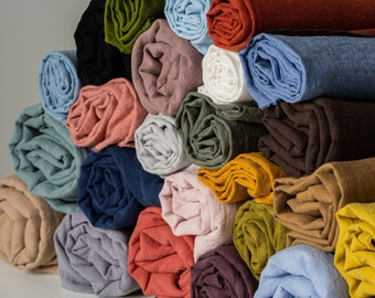 Sustainable 100% Linen Fabric by the Yard or Meter/Natural Softened & Washed Linen Quilting Fabric for Bedding/Linen Table/Bags