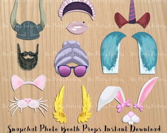 photo about Printable Snapchat Filters known as Snapchat props Etsy
