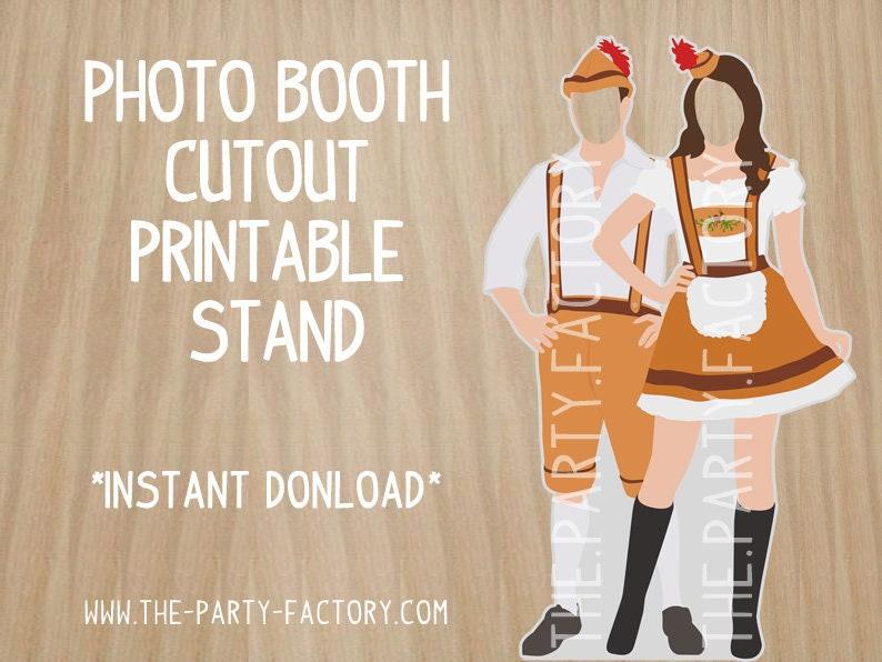 German Couple Oktoberfest Themed Instant Download PRINTABLE Digital File