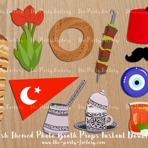 Digital File PRINTABLES Ben and Holly Themed Photo Booth Props Instant Download