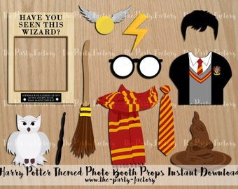 Wizard Themed Photo Booth Props PRINTABLES, Instant Download, PDF
