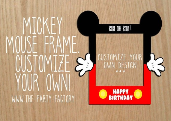 Mickey Mouse Photo Booth Frame Mickey Mouse Digital Frame Mickey Mouse Birthday Prop Digital File Mickey Mouse Frame