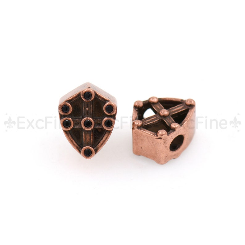 Antique Shield Spacer Beads For NecklaceBracelet Making,Medieval Style Jewelry Finding.10.5x8.5mm