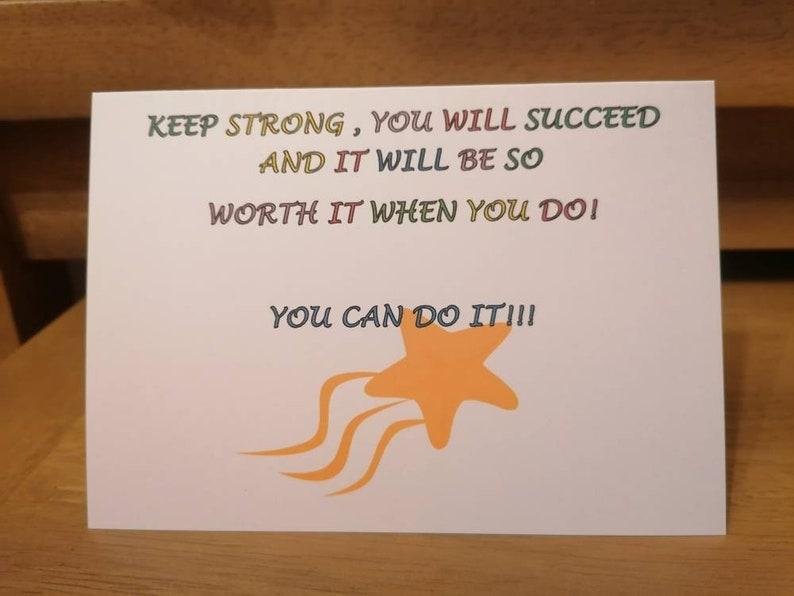 Encouragement card Inspirational.