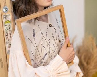 Pressed Lavender Art, Pressed Flower Frame by MyBotanica