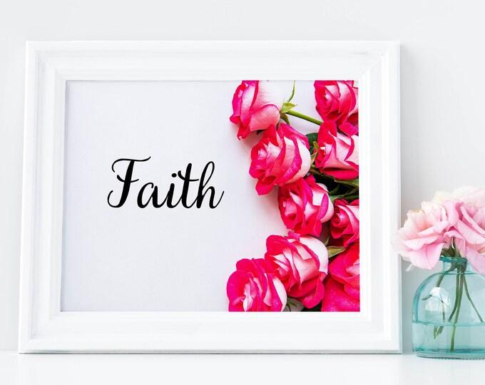 Heavenly Prints, PrintableWallArt, FAITH, DigitalDownload, HomeDecor, WallArtFramed, WallDecor, BedroomDecor, WallArt