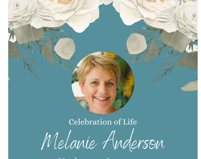 Editable Floral Funeral Prayer Program, 3 Colored Set, Celebration of Life Prayer Program Template, Heavenly Prints by Sonia