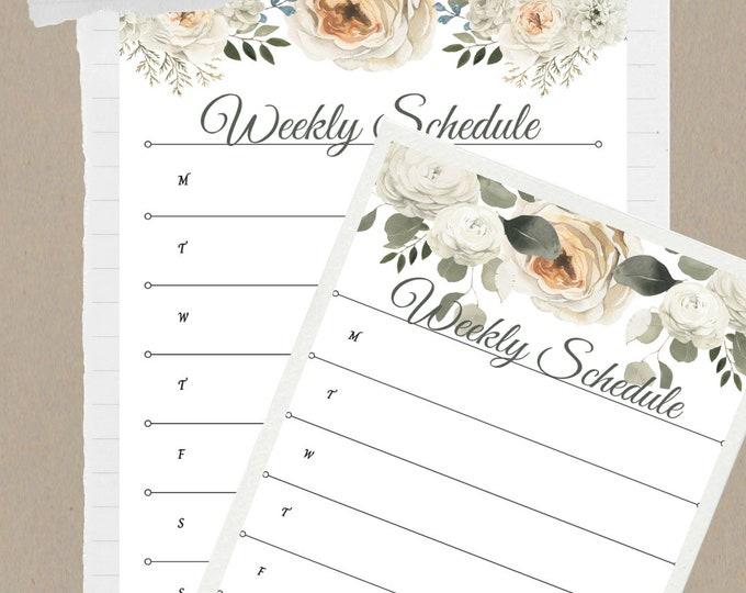 PrintableWallArt, WeeklyScheduleSheet, Two In One Bundle, DigitalDownload, WallArt, HomeDecor, OfficeDecor, BedroomDecor, PrintableArt