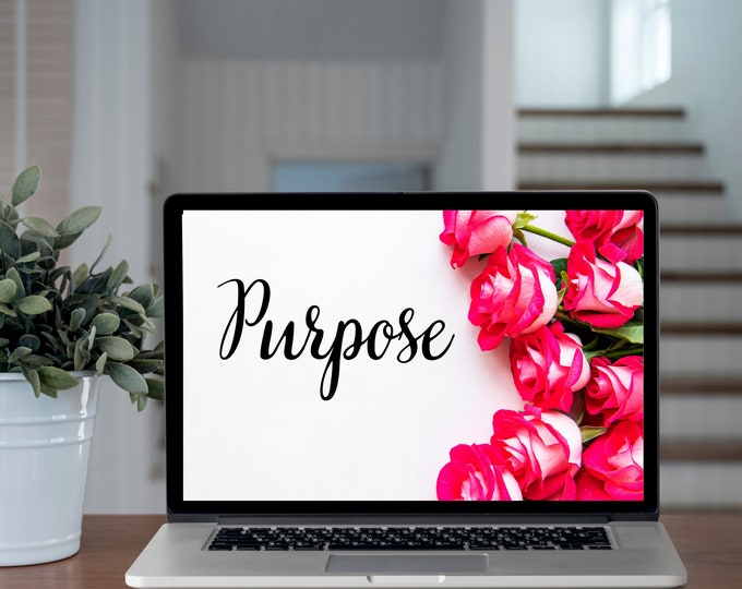 Bible Verse PURPOSE With Roses Wall Art, Bible Verse Printable, Bible Verse Psalms, Bible Verse Quotes, Bible Verse Home Decor
