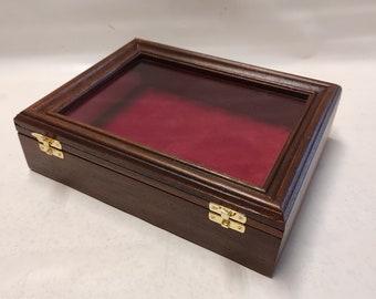 Cofanetto in legno  Espositore per oggetti da collezione personalizzabile