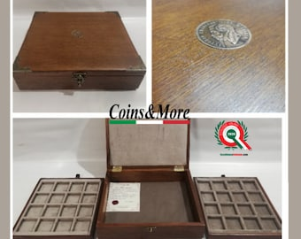 "Wooden case for coins or medals ""UNIQUE"" PIECE N 001/2020"