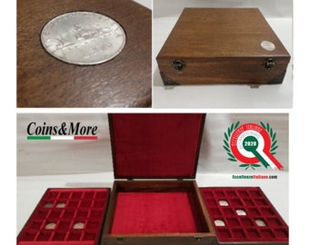 """Wooden case for coins or medals """"UNIQUE"""" PIECE N 004/2020"""
