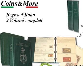 Album raccoglitore per la cartamoneta del Regno d'Italia dal 1878 al 1946
