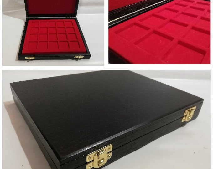 Wooden casket for medal coins, also customizable