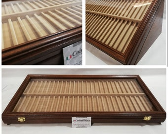 Pencil case, Exhibitor for fountain pens collection wooden pen holder Display for fountain pen collection,