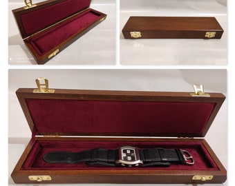 Customizable wooden box for wristwatches, watch box, tudor, hublot, rolex handmade handmade birthday anniversary gift