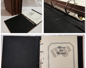 Album Wooden binder for coins made by hand for sheets UNI - handmade by Coins & More Numismatics