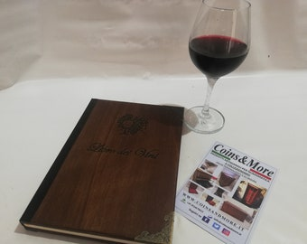 Wine list for sommeliers Personalized gift Sommelier manual vinology notes wine oenology handmade restaurant in Italy