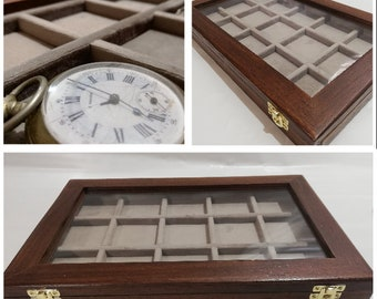 Collector's pocket watch case Coins Medals Coins & More 15 boxes 60x60