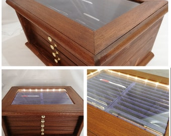 Storage unit for collection pens penholder from exhibitor desk