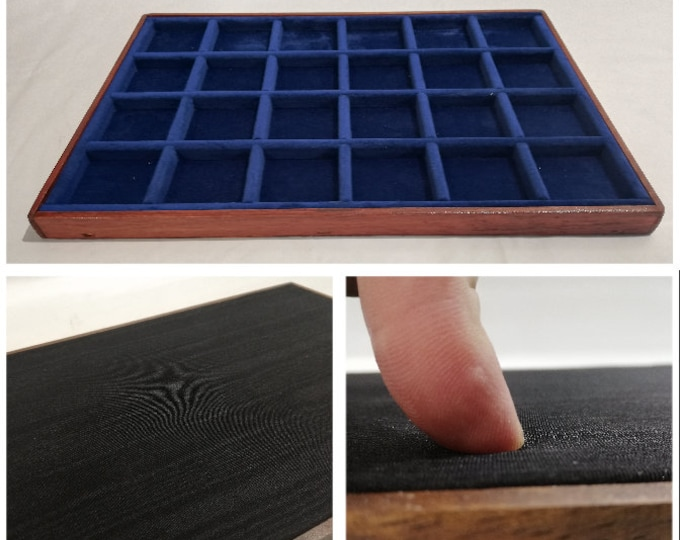 Italian Velvet and Damask Satin Tray ideal for Coins, medals and high-level collectibles.