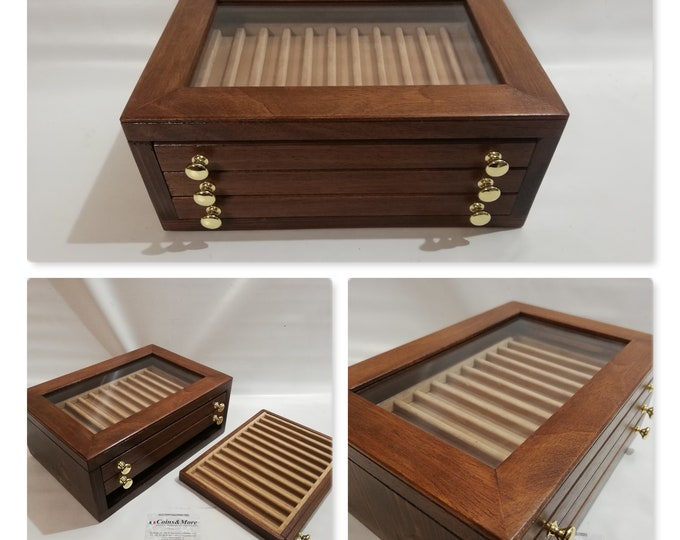 Storage unit for 33 collection pens penholder from exhibitor desk