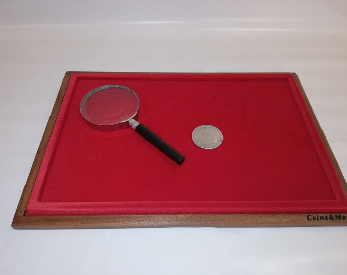 CUSTOMIZABLE display tray for jewelery, coins, medals