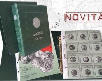 Album per la raccolta delle monete degli Argenti della Lira italiana Caravelle Commemorative
