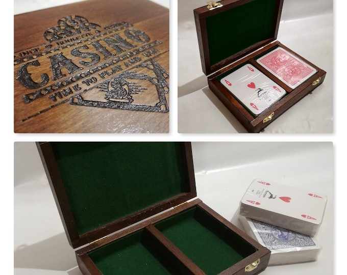 Poker card container box