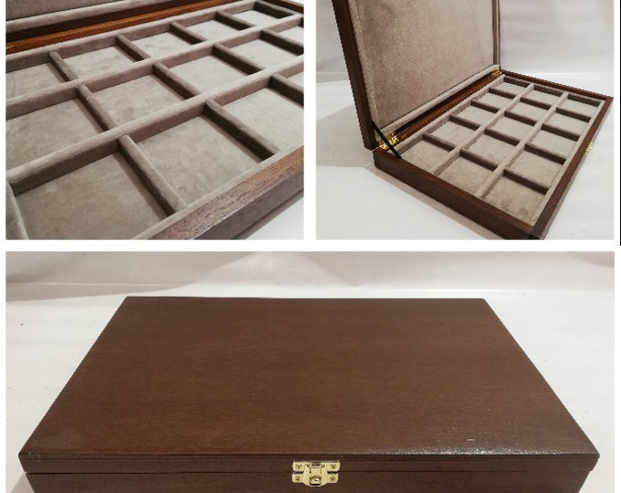 Display case for Coins Medals 15 squares 60x60