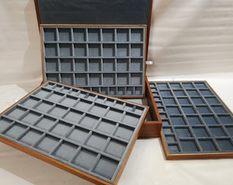 """Wooden case for coins or medals """"UNIQUE"""" PIECE N 006/2020"""
