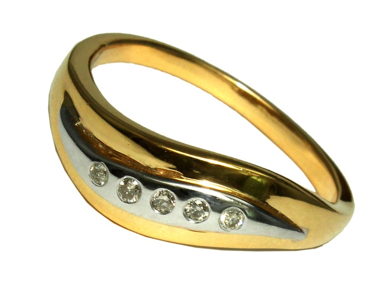 Diamond Ring-Diamond Gold Band-Gold Wedding Band-Designer Band-14 K Gold Band-Diamond Gold Band-Wedding Gold Ring-Gold Band-Gemstone Band
