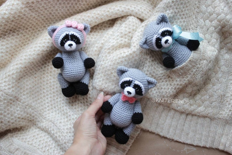 Crochet pattern amigurumi raccoon amigurumi animals easy image 0
