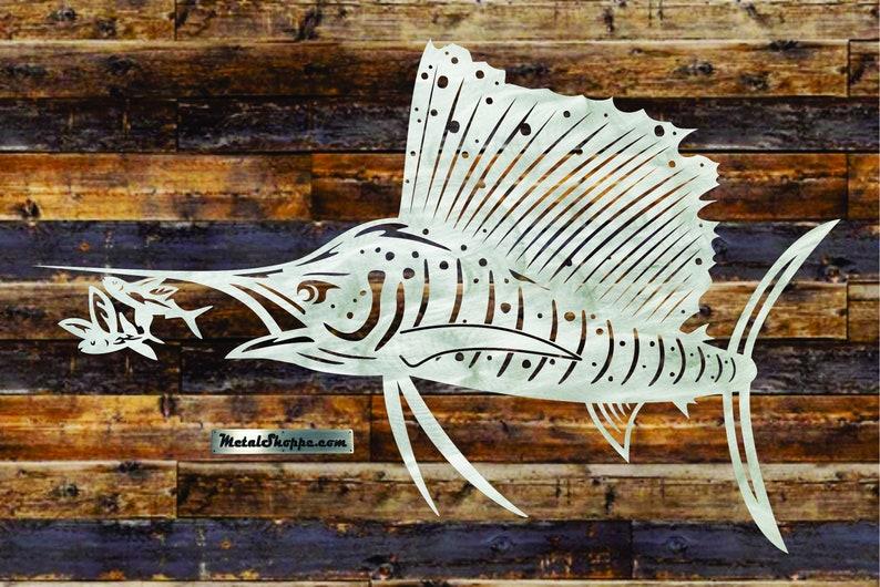 Sailfish aluminum metal wall art image 0