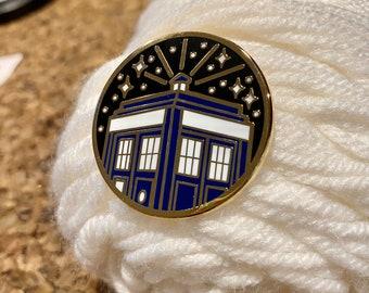 TARDIS Doctor Who Inspired Enamel Pin