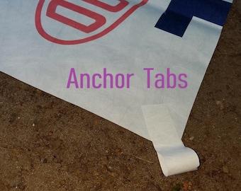 3 X 7 ft. DuPont Tyvek Camp Tarp UL Ground Sheet Tent Footprint w/ 4 Self Adhesive Anchor Tie-Off Loops